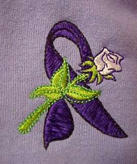 Fibromyalgia Awareness Purple Ribbon Rose Lilac Unisex Hoodie