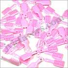 48 pcs MINI Brush charms 1 Baby SHOWER Favor PINK Girl Decor Party