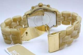 New Michael Kors Horn Chronograph Women Oversize Watch 44mm MK5217