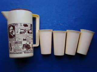 Montgomery Ward Pitcher Glasses Vintage Catalog Advertisements 1970s