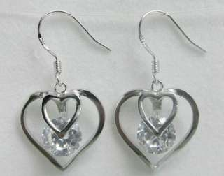 20 Kinds of 925 Sterling Silver White Crystal Dangle Earrings SA