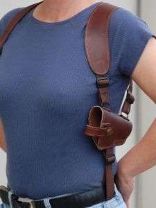 BROWN LEATHER SHOULDER HOLSTER S&W 4013 4014 4053 4516
