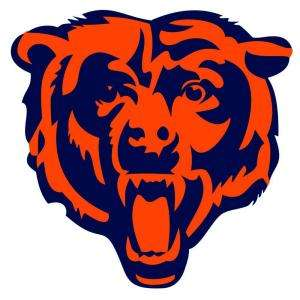 Fathead 40 In. x 39 In. Chicago Bears Logo Wall Appliques FH14 14008