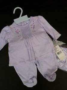 Preemie GIRL ADORABLE LAVENDER TWO PIECE SET  New
