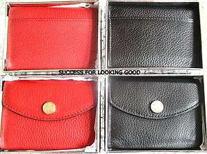 NEW Michael Kors BLACK, RED LEATHER Organizer CREDIT CARD CASE