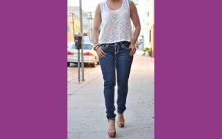 LA Idol jeans SKINNY SZ 0 15 DARK BLUE white stitching FAST SHIPPING