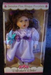 Dan Dee GENUINE FINE BISQUE PORCELAIN Doll Collectors Choice w/ Dress