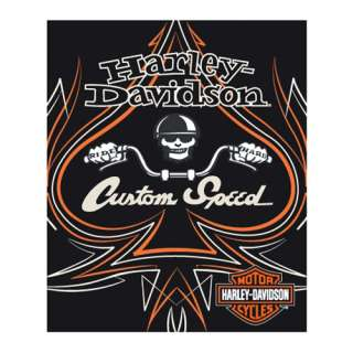 HARLEY DAVIDSON CUSTOM SPEED MOTORCYCLE BLANKET 50x60