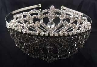 Pageant Party crystal Princess tiara crown Headband HGY0902