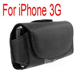 LEATHER CASE POUCH BELT CLIP For iPhone 3G 3GS/4G 4S BLACK