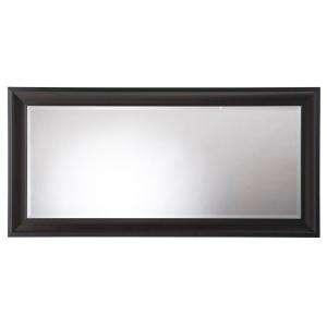 32 in. Framed Leaner Mirror in Dark Espresso 71906