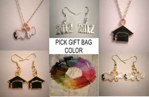 Charm NECKLACE or EARRINGS, Jewelry Party Favor PICK GIFT BAG