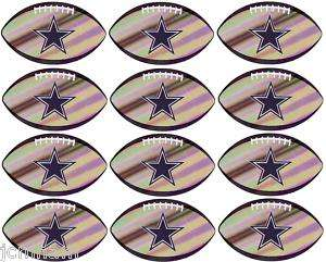 12 NFL DALLAS COWBOYS STICKER FOOTBALL LICENSED ~ PRISMATIC ~ NEW