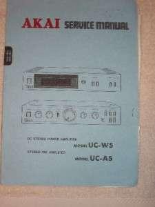 AKAI Service Manual&Parts List~UC W5/UC A5 Amplifier