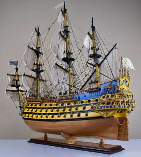 Soleil Royal 32 model wood ship French wooden tall ship boat