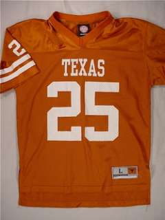 TEXAS LONGHORNS Football Jersey (#25) Youth Large   Burnt Orange