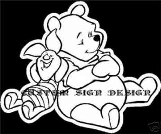 Pooh Bear Piglet Sit Car Window Decal Sticker Winnie