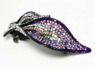 LILY HAIR BARRETTE CLIP PONY HOLDER AUSTRIAN RHINESTONE CRYSTAL B1179