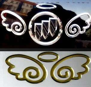 Neu Engel Emblem Auto Tattoo Aufkleber Sticker Gold 3D