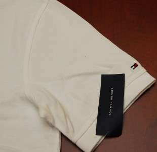 MENS TOMMY HILFIGER S/S POLO SHIRT WHITE/BLUE XL XLARGE
