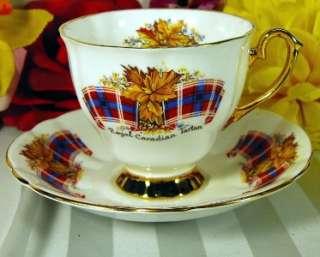 WINDSOR TEACUP & SAUCER   ROYAL CANADIAN TARTAN TEA CUP