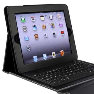 For iPad 2 Wireless Bluetooth Keyboard & Protective Leather Case Skin