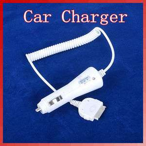 New DC Car Charger Adapter With Cable For Apple iPhone 3G 3GS 4G White