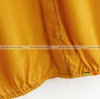 Women Fashion Vintage Loose V Neck Casual Shirt T shirt New WSHT088