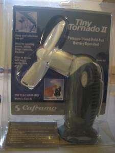TORNADO II HAND HELD SINGLE SPEED FAN 827CA UCS white compact quiet