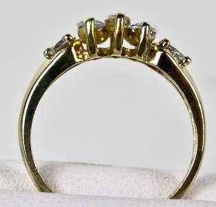 Estate 14k Yellow Gold .66ctw G SI1 Marquise Cut Diamond Engagement