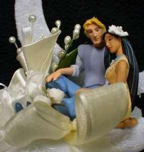 DISNEY POCAHONTAS JOHN Wedding Cake Topper IVORY moon