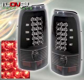 2003 2006 CHEVY SILVERADO GMC SIERRA 1500 2500 3500 LED BLACK CLEAR