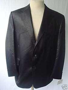 38R New Mens Western Wear Coat Black Liquid Leather