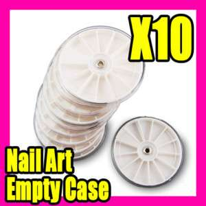10 pcs empty glitter rhinestone nail art box case S010