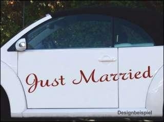 Just Married Hochzeitsauto Aufkleber Hochzeit A9 100cm