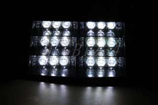 18 LED Flashing Strobe Grill Dash Emergency Light White