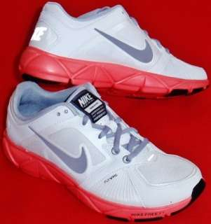 NEW Womens White/Gray/Pink NIKE QUICK FIT + FLYWIRE Athletic Training