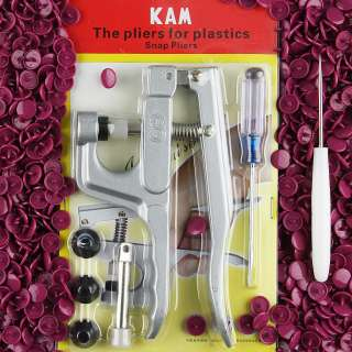 New KAM Plastic Snap Press Pliers +50 Snaps for Cloth Diapers/PUL/Baby