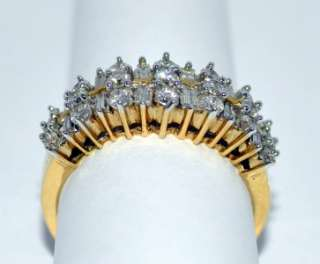 WEDDING BAND 14K GOLD 1CT ANNIVERSARY RING ROUND BAGUETTE CUT DIAMOND