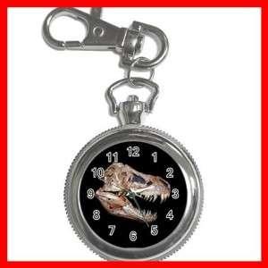 REX SKULL DINOSAUR FOSSIL Silver Key Chain Watch New
