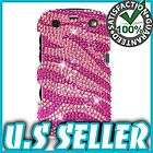 FOR BLACKBERRY CURVE 9350 9360 9370 BLING HELLO KITTY ON SILVER PINK