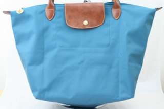 Longchamp Le Pliage Nylon Tote Bag Peacock Blue Large