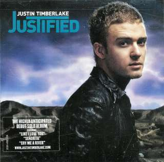 Justin Timberlake  on Justified By Justin Timberlake   New Sealed Cd 012414182326   Ebay