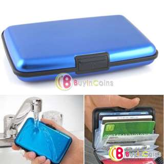 Business ID Credit Card Wallet Holder Aluminum Metal Case Box