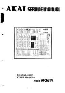 Akai MG614 Service Manual MG 614 MG 614 |
