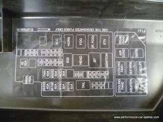 176) 2004 Mazda RX8 231 Fuse Box Cover