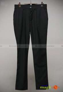 Men Fashion Casual Slim Fit Harem Pants Trousers Black