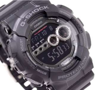 Casio G Shock World Time Alarm Chrono Digital GD100 1B