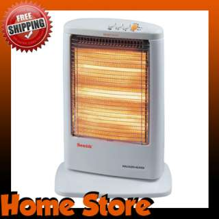 1200W PORTABLE ELECTRIC OSCILLATING HALOGEN HEATER 3 HEAT SETTINGS