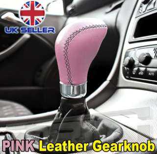 VW GOLF GTI MK1 MK2 MK3 PINK LEATHER CAR GEARKNOB